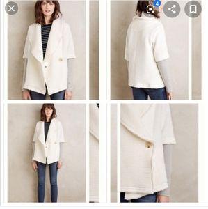 Anthropologie Overland Dolan Sweater Ivory Coat